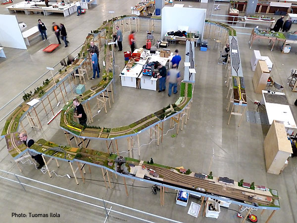 Layout under construction, Model-Expo 2012, Helsinki, by Tuomas Ilola